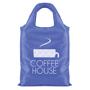 blue roll-up shopping bag