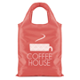 promotional pack-away shopper in red