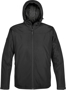 Endurance Thermal Softshell in black with full zip and hood