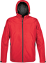 Endurance Thermal Softshell in red with full zip and hood