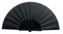 Fabric Tela Fan in black