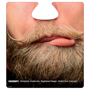 funny face beer mat with blonde beard