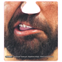 funny face beer mat with brown beard