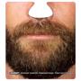 face beer mat with beard