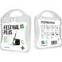 white festival first aid kit with white contents label