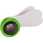 Fisheye Lens with Clip in white with green trim