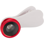Fisheye Lens with Clip in white with red trim