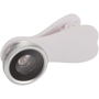 Fisheye Lens with Clip in white with silver trim