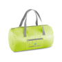 Foldable gym bag in green with grey straps and details