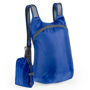 blue foldable ledor backpack with a small blue pouch