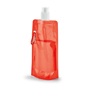 Folding Water Bottle With Side Carabiner Clip - Red