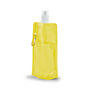 Folding Water Bottle With Side Carabiner Clip - Yellow