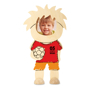 footballer wooden photo frame with red t-shirt