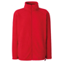 FOTL Full Zip Fleece in red with self-coloured zips to front and pockets
