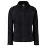 FOTL Lady-Fit Full Zip Fleece in black  with cadet collar and self-coloured zips
