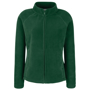 FOTL Lady-Fit Full Zip Fleece in green with cadet collar and self-coloured zips