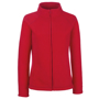 FOTL Lady-Fit Full Zip Fleece in red with cadet collar and self-coloured zips
