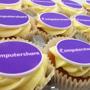 Cupcakes with a company logo