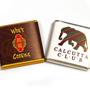 Branded neapolitan chocolates with company logo