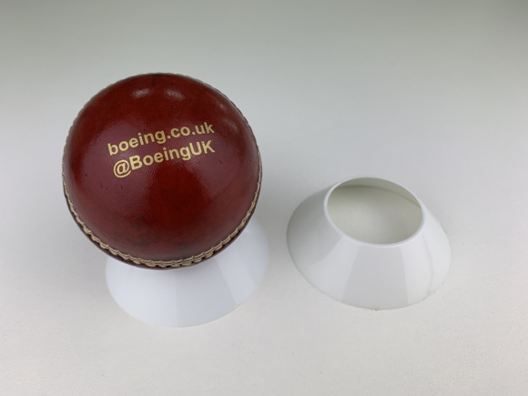 Picture of Full Size Branded Cricket Ball with Stand