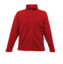 Full Zip Microfleece in red with 2 zipped lower pockets