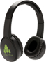 Fusion Wireless Headphones in black with 1 colour print logo