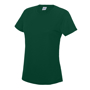 Girlie Cool T in green with crew neck
