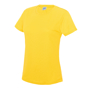 Girlie Cool T in yellow with crew neck