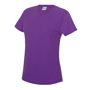 Girlie Cool T in purple with crew neck