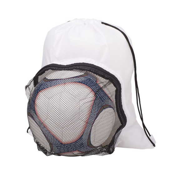Soccer Backpack With Front Mesh Pocket White