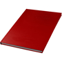 A5 hard backed notebook in red