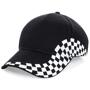 Grand Prix Cap in black with white checkerboard