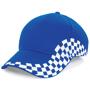 Grand Prix Cap in blue with white checkerboard