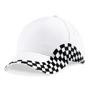 Grand Prix Cap in white with black checkerboard