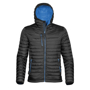 Gravity Thermal Shell in black with full zip and 3 zipped pockets on outside and blue lining