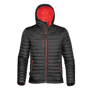 Gravity Thermal Shell in black with full zip and 3 zipped pockets on outside and red lining