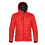 Gravity Thermal Shell in red with full zip and 3 zipped pockets on outside and black lining