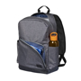 """Grayson 15"""" Computer Backpack in grey and black showing storage"""