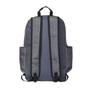 """Grayson 15"""" Computer Backpack in grey and black showing back of bag"""
