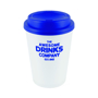350ml double walled coffee cup with blue lid