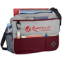 Messenger bag with front compartments, bottle holder and capacity to hold a laptop