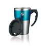 Highland Mug in silver and blue with 2 colour print logo
