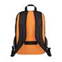 "Ibira 15.6"" Laptop And Tablet Backpack in black and orange back view"