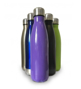 a selection of metal bottles in different colours
