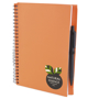 a5 recycled wiro notepad in orange