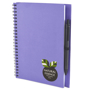a5 recycled wiro notepad in purple