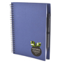 a5 recycled wiro notepad in blue