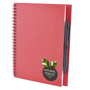 a5 recycled wiro notepad in red