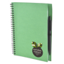 a5 recycled wiro notepad in green