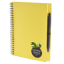 a5 recycled wiro notepad in yellow